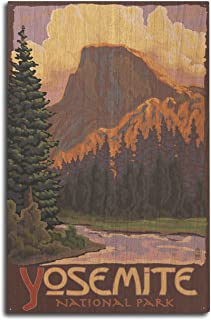 product image for Lantern Press Yosemite National Park, California - Half Dome (10x15 Wood Wall Sign, Wall Decor Ready to Hang)