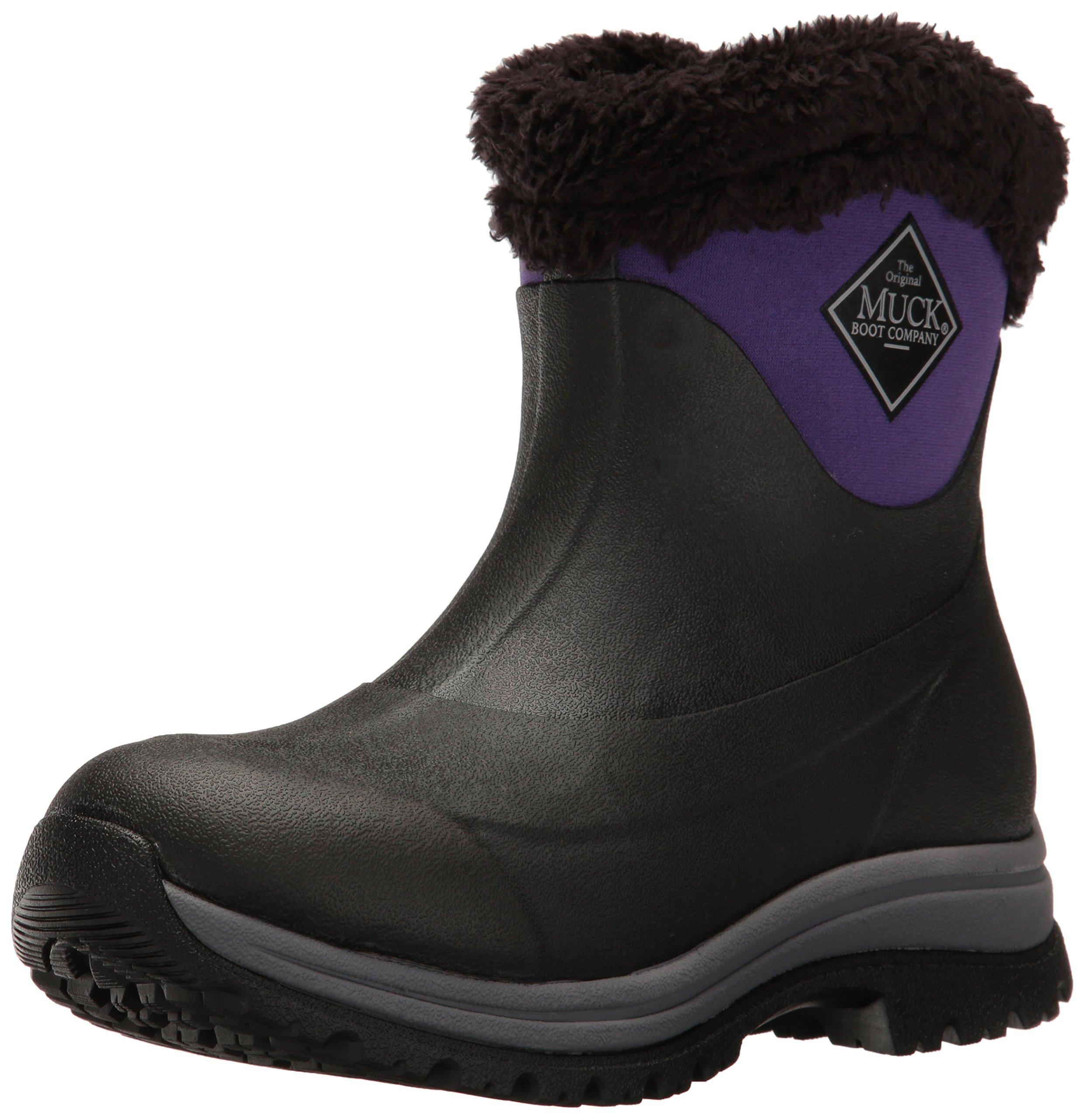 Muck Boot Women's Arctic Apres Slip-on, Black/Parachute Purple, 10 US/10 M US