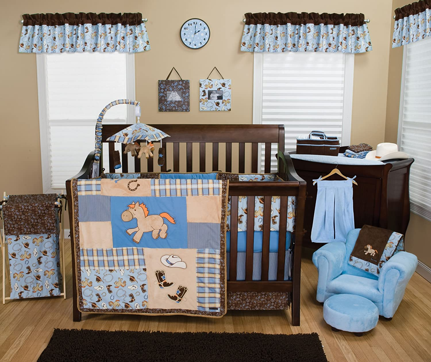 Amazon Trend Lab 3 Piece Crib Bedding Set Cowboy Baby