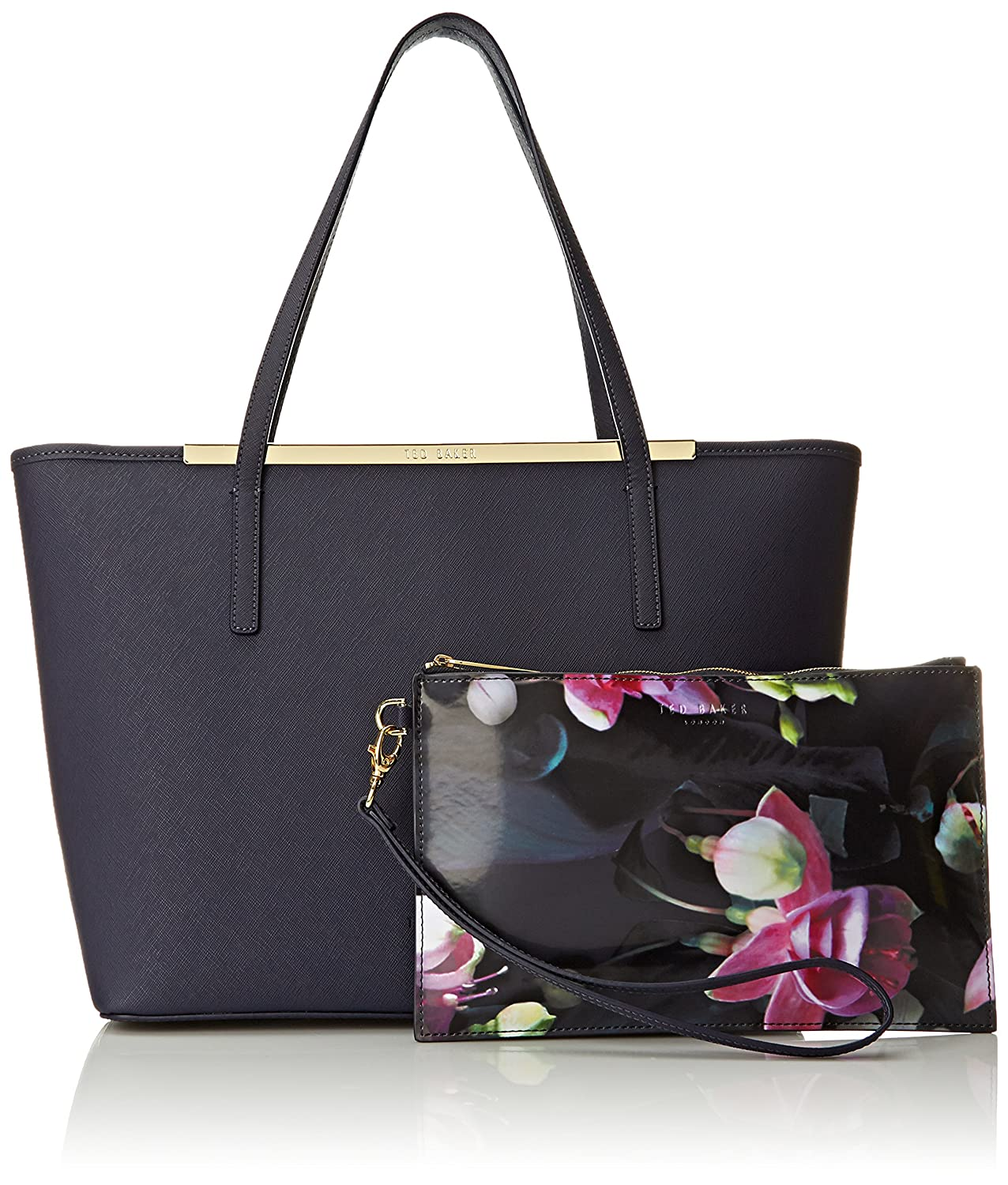 1664c16ab2 Amazon.com: Ted Baker Noelle Large Shopper with Pouch Shoulder Bag, Dark  Blue, One Size: Clothing