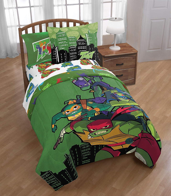 TMNT Twin Bed Set Teenage Mutant Ninja Turtles Twin Comforter and Sheet Set