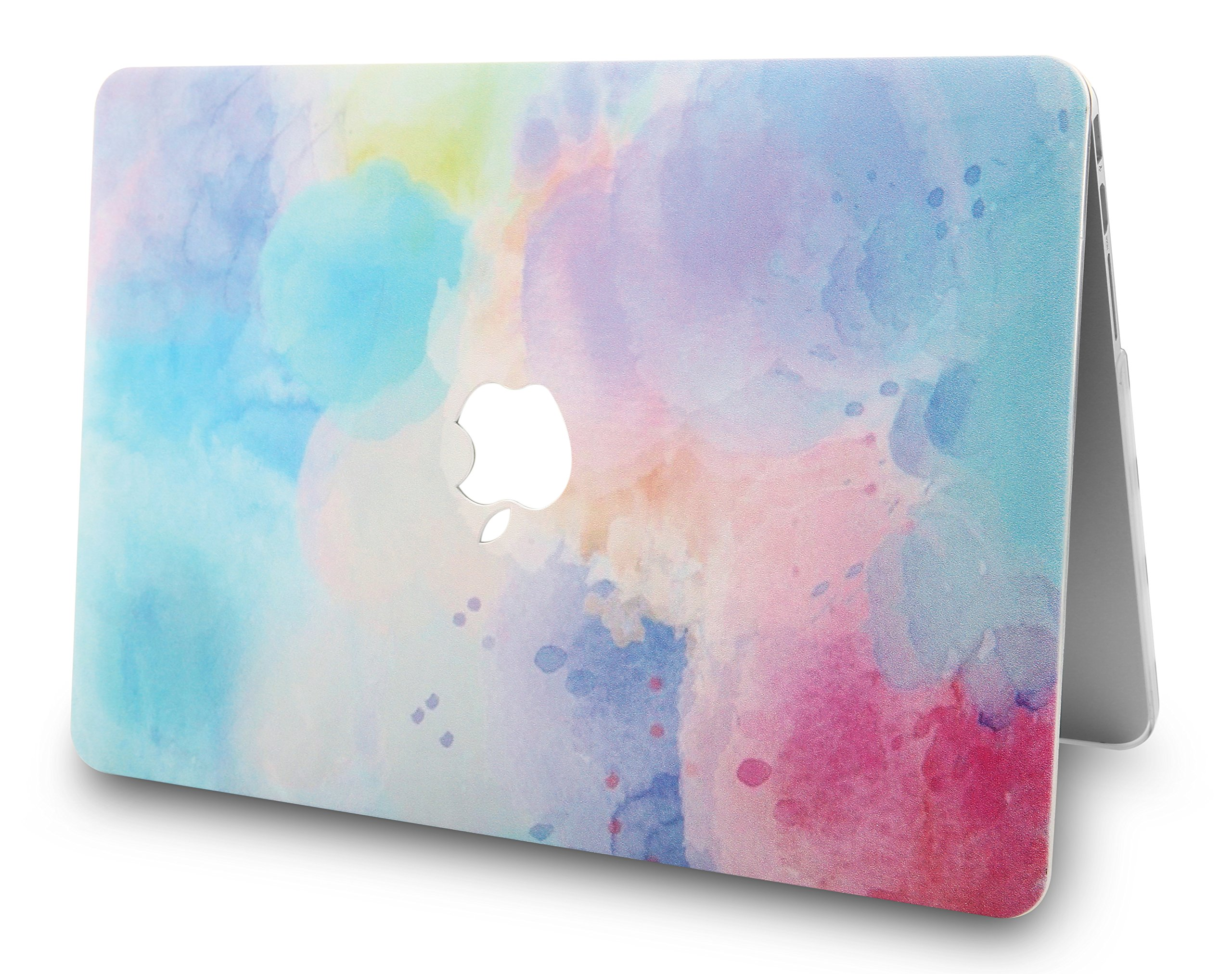 KEC Laptop Case for MacBook Air 13'' w/ Keyboard Cover + Sleeve Plastic Hard Shell Case A1466/A1369  3 in Bundle (Rainbow Mist 2)  by KEC (Image #4)
