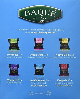 Cafés Baqué Cápsulas La Colección Bahía Suave - 98 gr: Amazon.es ...
