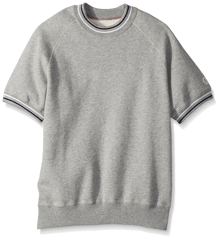 564f79e3 Todd Snyder + Champion Men's Short Sleeve Sweatshirt, Antique Grey  Heather/Eggshell Mix, Large: Amazon.co.uk: Clothing
