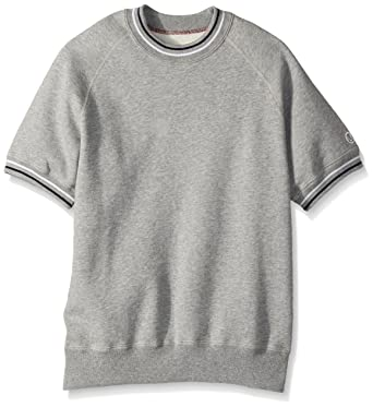 572afdcd Todd Snyder + Champion Men's Short Sleeve Sweatshirt, Antique Grey  Heather/Eggshell Mix,. Roll over image to ...