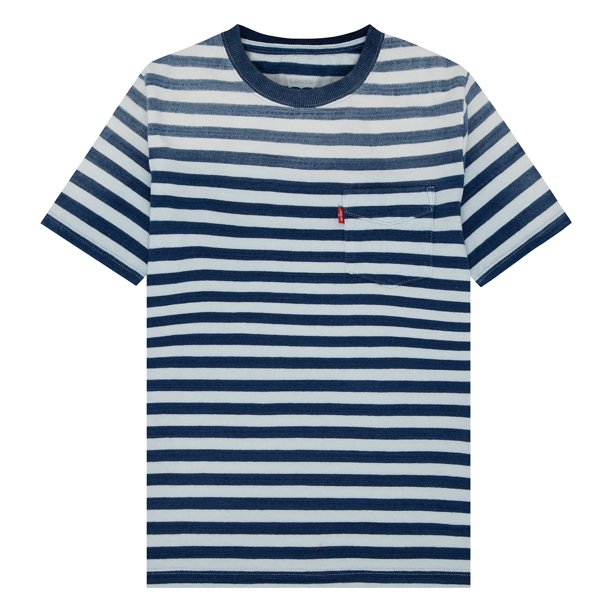 Levi's Big Boys' Basic T-Shirt, Indigo/Cloud Dancer, M