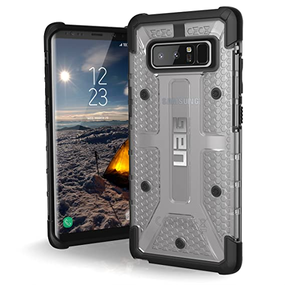 new style 018d2 1b661 UAG Samsung Note 8 Plasma Feather-Light Rugged [ICE] Military Drop Tested  Phone Case