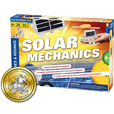 Thames & Kosmos Solar Mechanics | Science Experiment Kit | Build 20 Models Powered by The Sun | Ages 8-12+ | 60 Page Full Color Stem Manual | Parents' Choice Gold Award Winner: Toys & Games