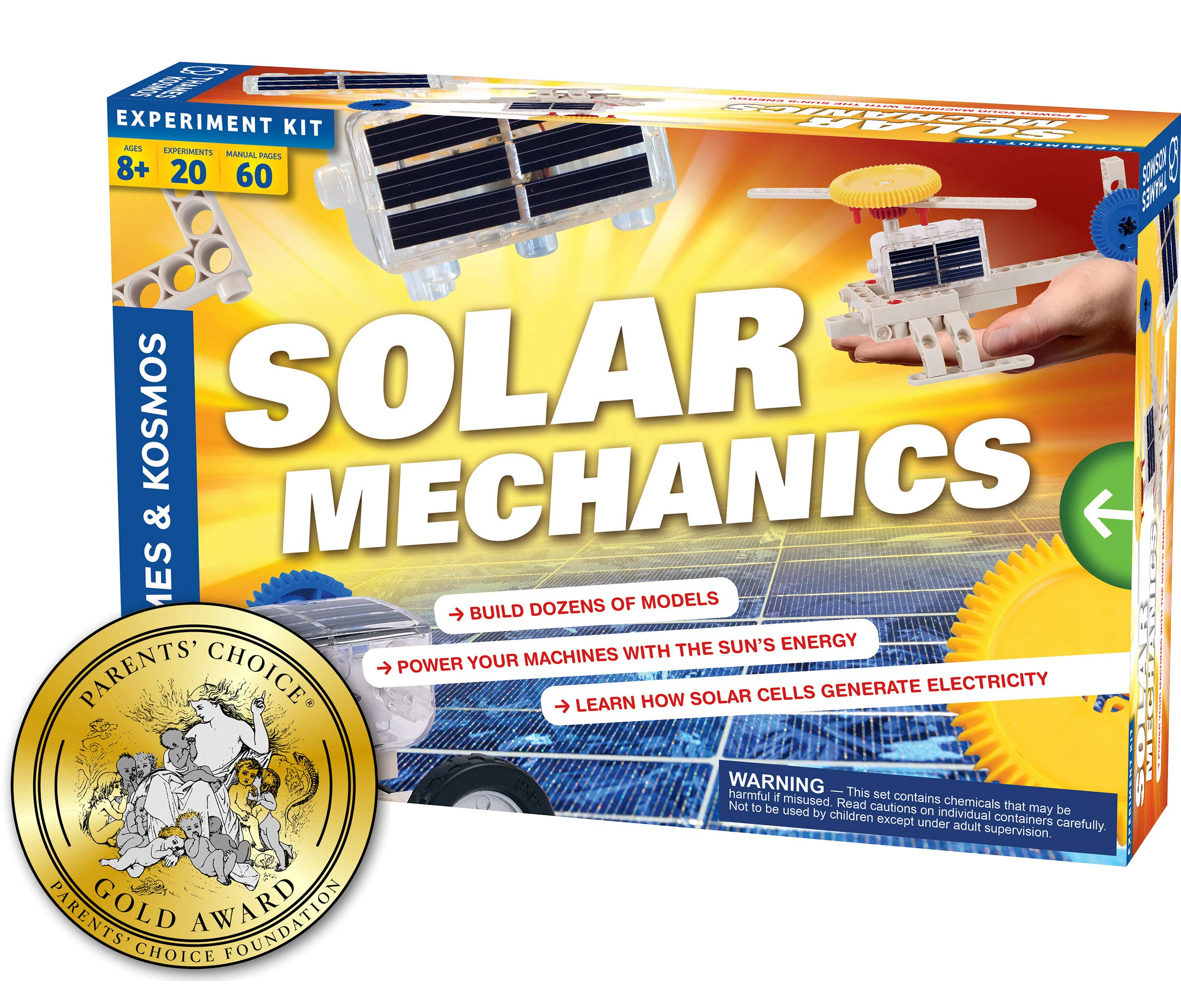 Thames & Kosmos Solar Mechanics | Science Experiment Kit | Build 20 Models Powered by The Sun | Ages 8-12+ | 60 Page Full Color Stem Manual | Parents' Choice Gold Award Winner by Thames & Kosmos