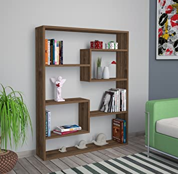 soul bookcase walnut bookshelf shelving unit room divider