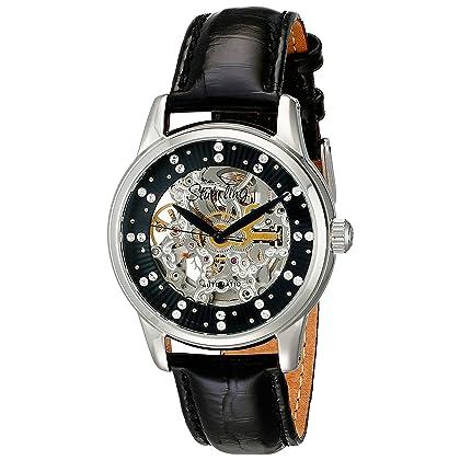 Stuhrling Original Women's 576.11151 Vogue Audrey Stella Skeleton Watch Made with SWAROVSKI CRYSTALS