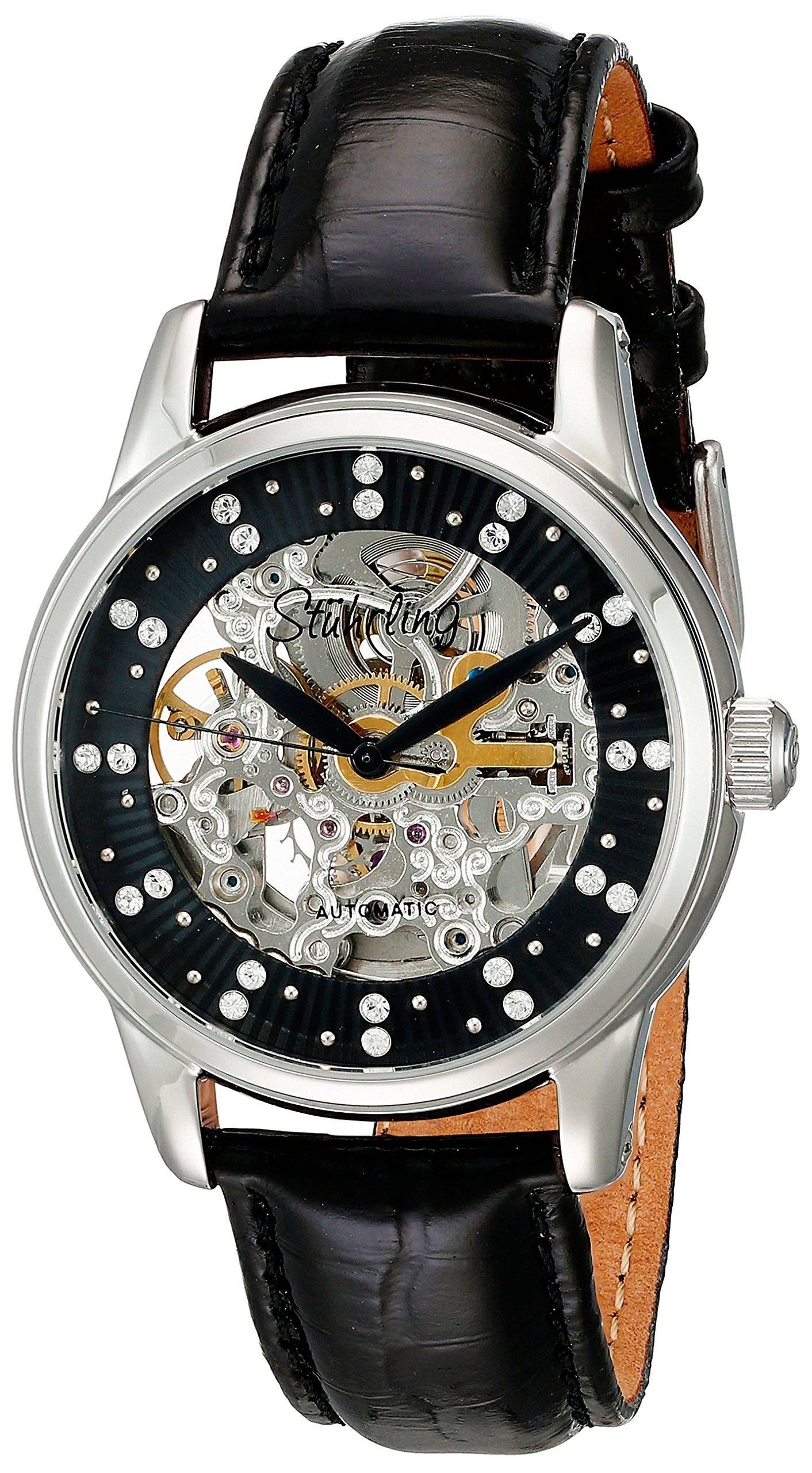 Đồng hồ chính hãng Stuhrling Original Women's 576.11151 Vogue Audrey Stella Skeleton Watch Made with SWAROVSKI CRYSTALS