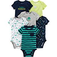 Simple Joys by Carter's 6-Pack Short-Sleeve Bodysuit Bebé-Niños, Pack de 6