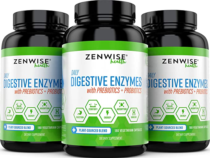 Digestive Enzymes with Prebiotics and Probiotics - All Natural ...