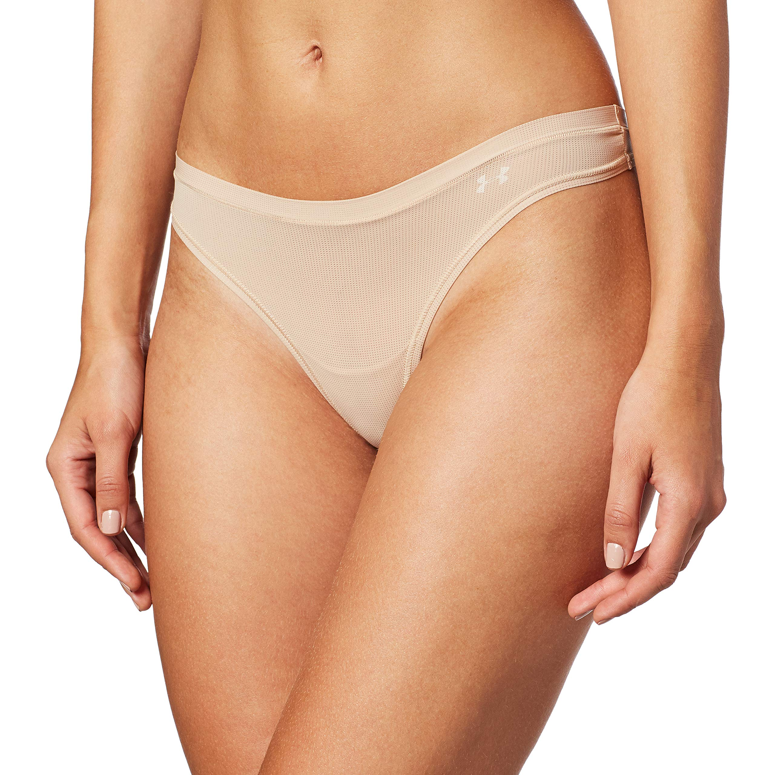 Under Armour Women's Power in Pink Pure Stretch Thong Underwear