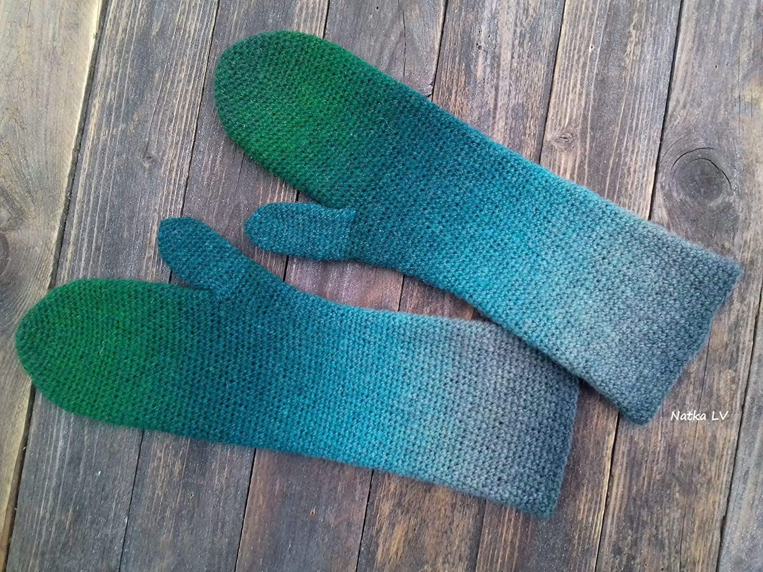 Men winter MITTENS  PURE SHEEP WOOL 100/%natural handknitted RUSTIC style craft