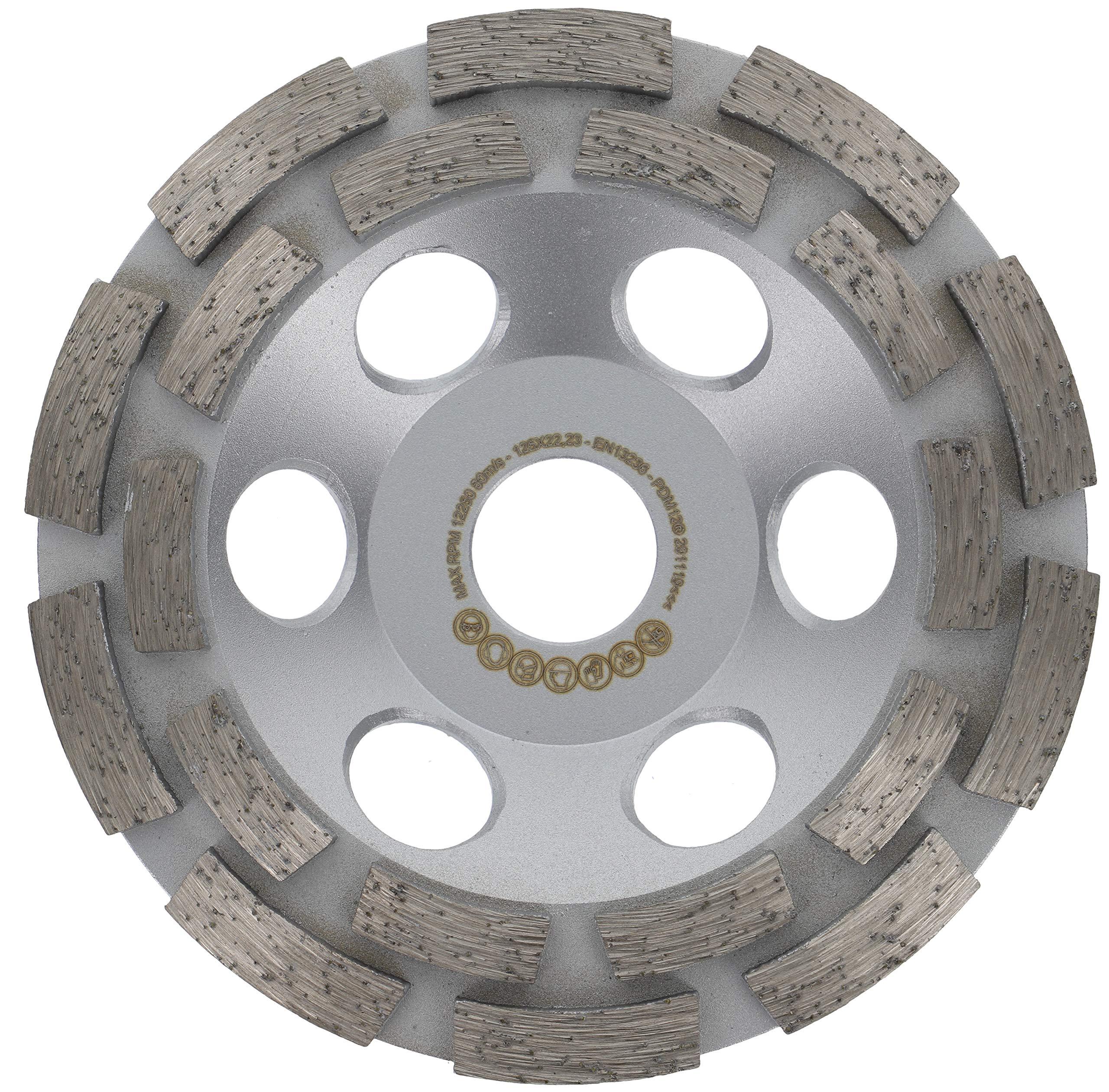 PRODIAMANT Profi Diamond Grinding Cup Wheel Concrete 125 mm 5 x 22.2 mm Diamond Grinding Head PDX82.918 125mm Concrete//Natural Stone Suitable Angle Grinder