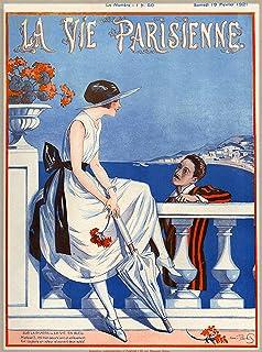 Amazon.com: 1923 la vie parisienne une femme a la mer niña ...