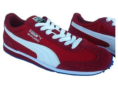 Puma Men's Whirlwind Classic Red Leather Boat Shoes - 10.5UK/India (45EU)
