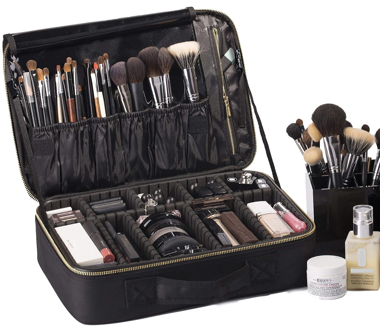 20-ROWNYEON Portable Makeup Bag EVA Professional Makeup Artist Bag Makeup  Train Case Makeup Organizer Bag (Large 2) a07e3ad26a311