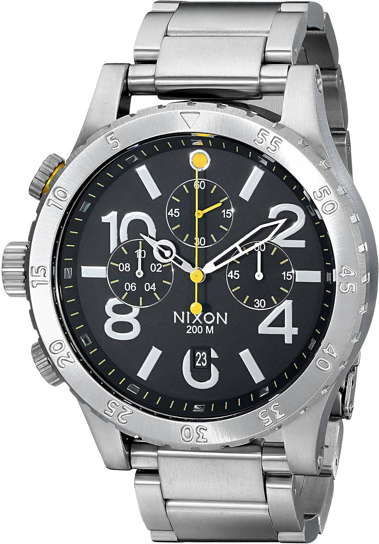 Nixon Men s 48-20 Geo Volt Stainless Steel Chronograph Watch
