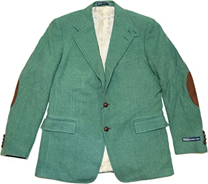 Coin laundry Anoi Diversity  Ralph Lauren Polo Men Wool Tweed Suede Blazer Sport Coat Jacket Italy Green  42L at Amazon Men's Clothing store