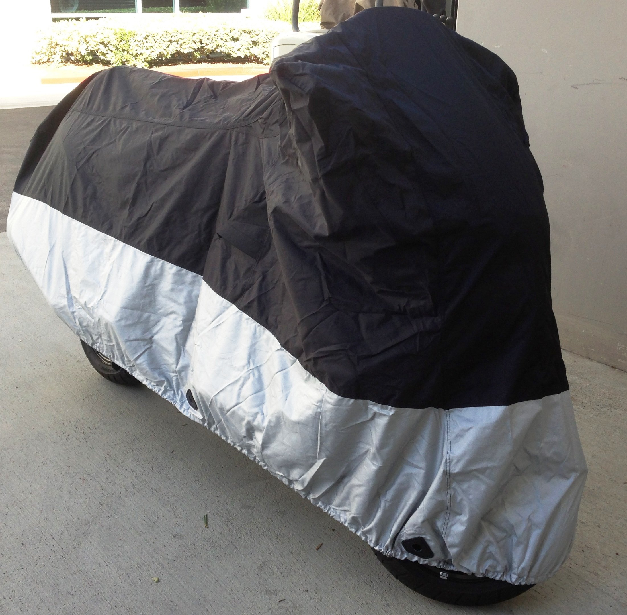 High Quality Heavy Duty Motorcycle cover (L) with cable & lock. Fits up to 84'' length sport bike, dirt bike, small cruiser.