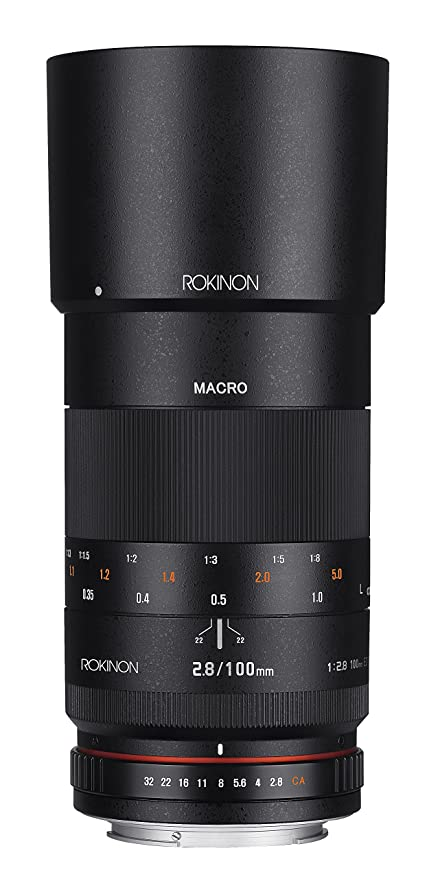 Rokinon 100mm F2 8 ED UMC Full Frame Telephoto Macro Lens for Canon EF  Digital SLR Cameras