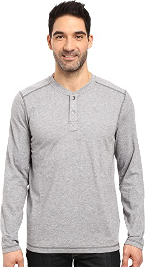 2199b83152cc The North Face Men's Long Sleeve Copperwood Henley Zinc Grey Heather (Prior  Season) Medium