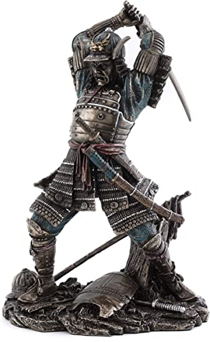 Top Collection Japanese Bushido Samurai Warrior Statue- Historical Sculpture with Martial Arts Sword in Premium Cold Cast Bronze – 9-Inch Collectible Figurine
