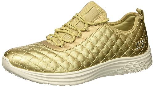Bobs Swift-Social Hustle, Zapatillas para Mujer, Dorado (Gold), 38 EU Skechers