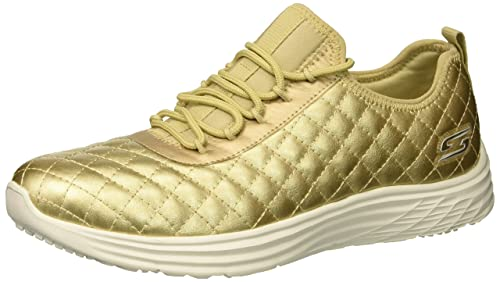 Skechers Bobs Swift-Social Hustle, Sneaker Donna, Oro (Gold), 35 EU