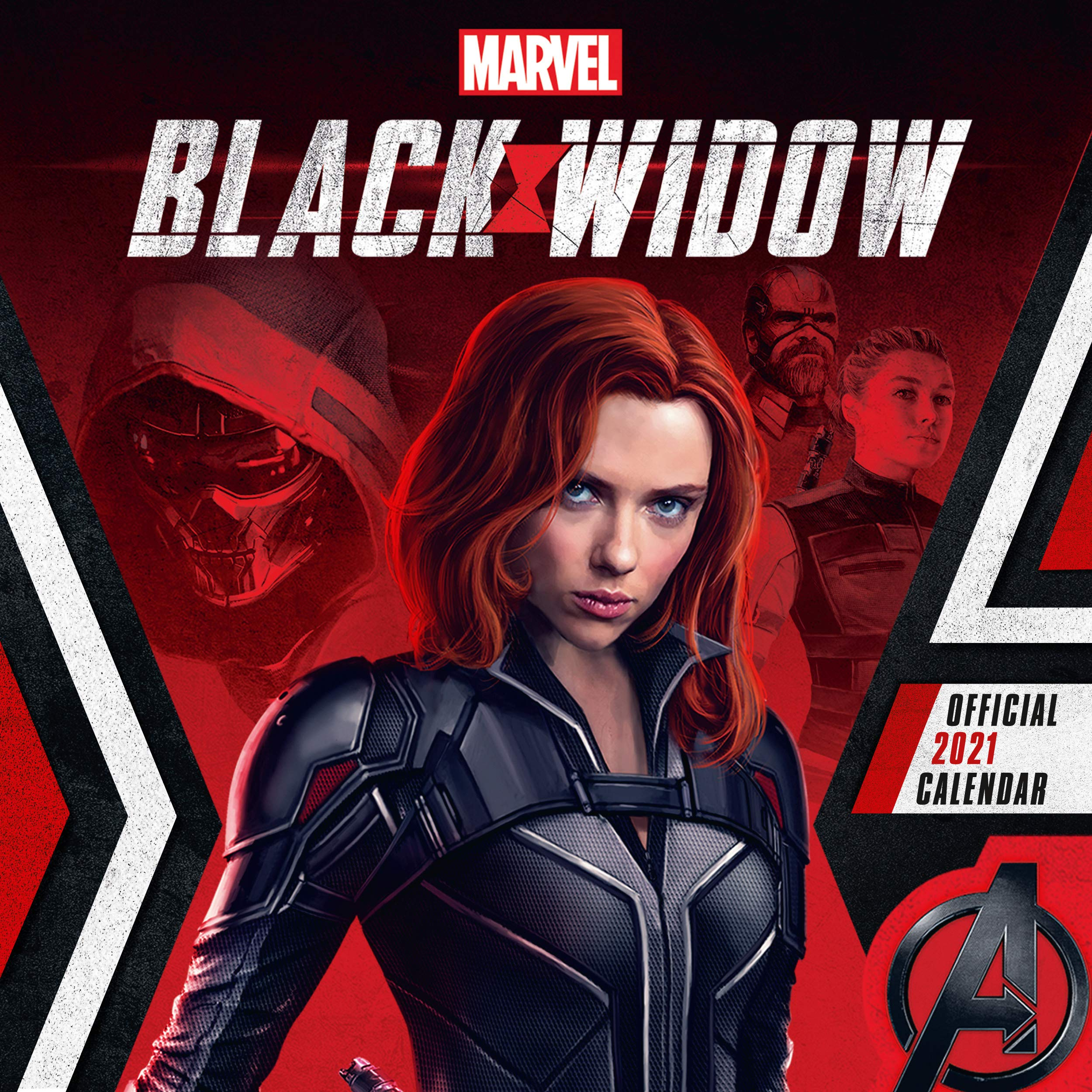Official Marvel Black Widow 2021 Calendar   Square Wall Format