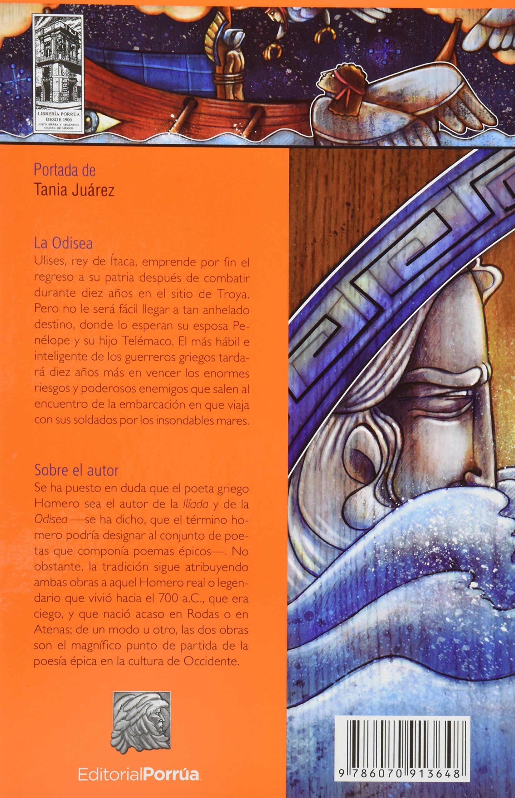 La Odisea (portada puede variar): Homero, Editorial Porrúa S.A. de C.V.:  Amazon.com.mx: Libros