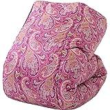 东京西川 羽绒被 单人 尤克里纳银鹅绒90% 日本制造 佩斯利 KA09005061 粉色 シングル KA09005061P