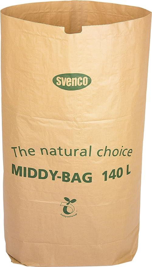 Bolsa de papel biodegradable Alina de 140 L para contenedores con ...