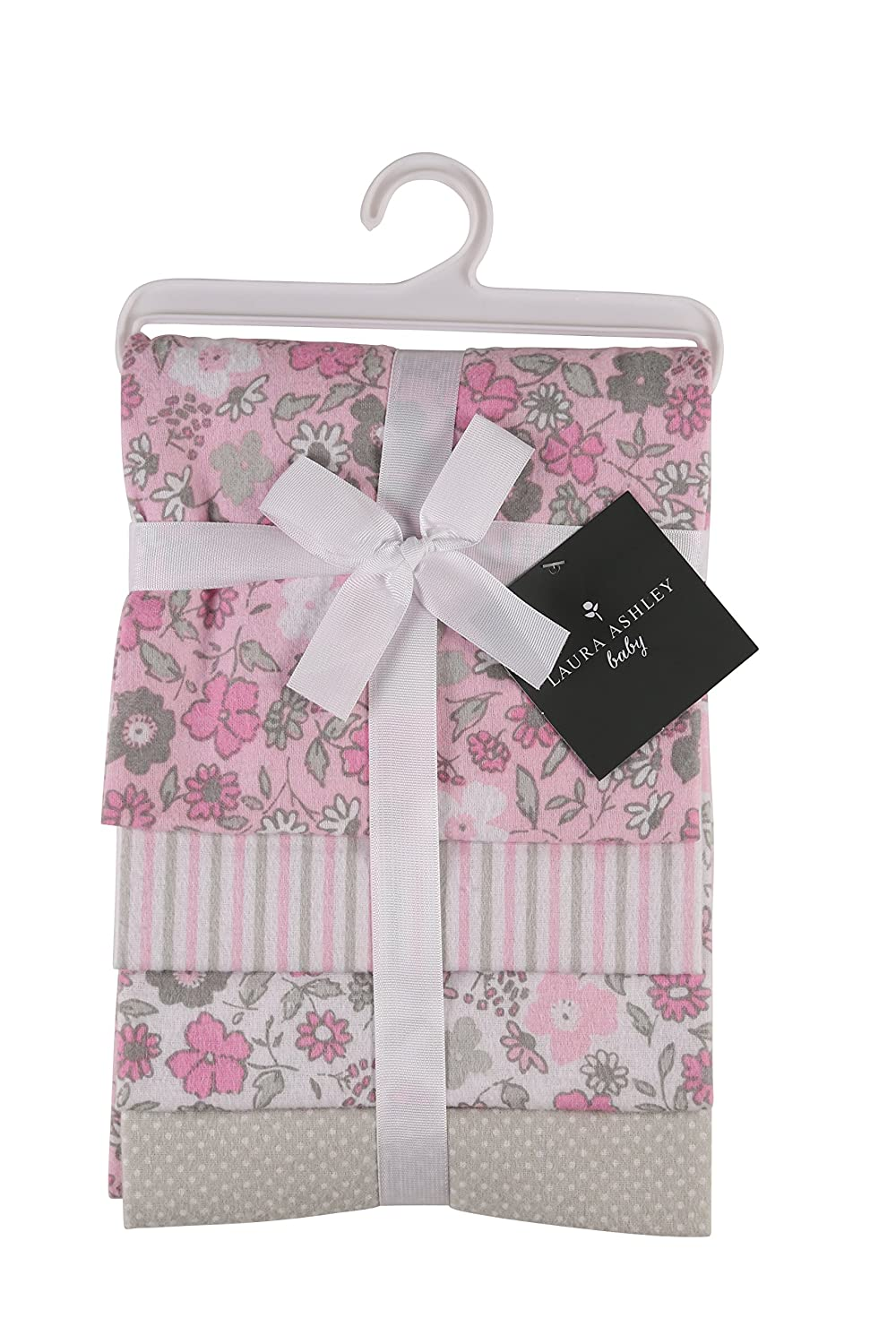 Laura Ashley 4 Piece Laddered Receiving Blankets, Abby Print Cudlie Accessories GS70962