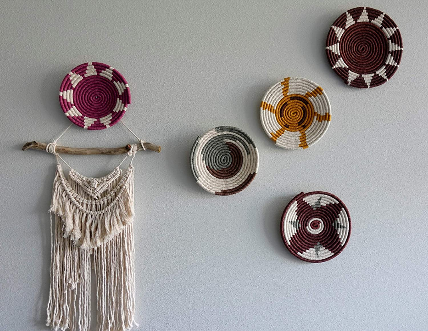 Macrame Wall Hanging African Baskets Living Room Decor Bedroom Wall Art Unique Gifts Boho Wall Hanging Toddler Boy Room Decor African Basket 8 Children S Room Decor Handmade Products Rayvoltbike Com