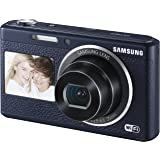Samsung DV180F Smart-Digitalkamera (16,2 Megapixel, 5-fach opt. Zoom, 6,9 cm (2,7 Zoll) LCD-Display, bildstabilisiert, DualView, WiFi) schwarz
