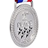 2nd Place Winner Silver Award Medal, Bright Silver