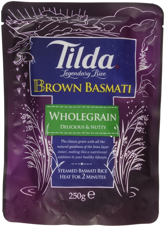 Tilda Steamed Basmati Brown Rice 250 G (pack Of 6): Amazon: Grocery