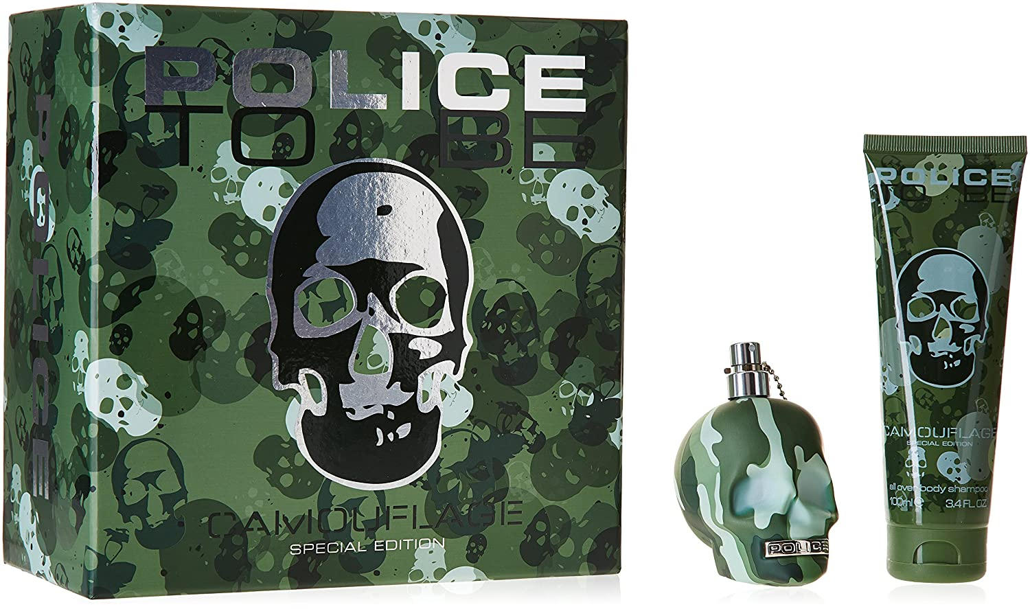 Police To Be Coffret Camouflage pour Homme - Parfum 75 ml + Gel Douche Cheveux/Corps 75 ml