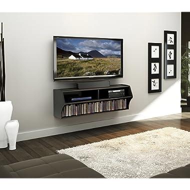 Prepac BCAW-0200-1 Altus Wall Mounted Audio/Video Console, 48.5  W x 16.75  H x 16  D, Black