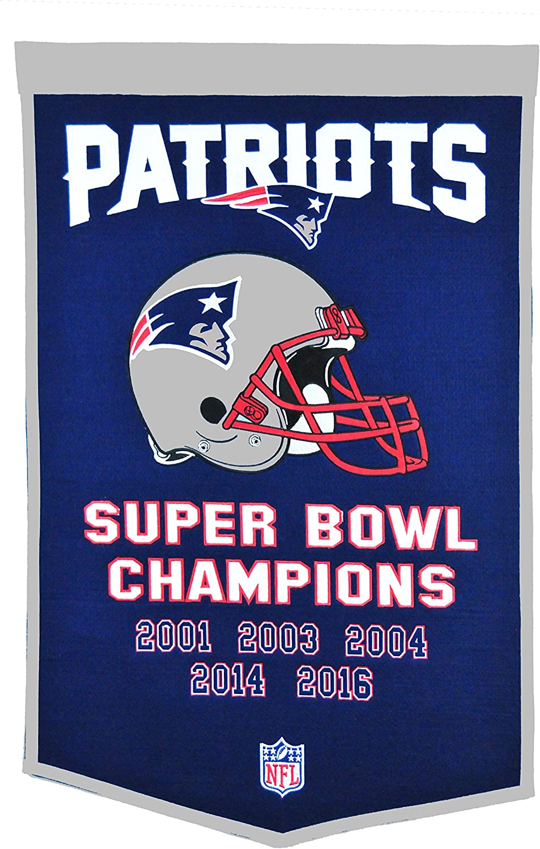 Navy Winning Streak New England Patriots 6 Time Super Bowl Champs Banner 14x22