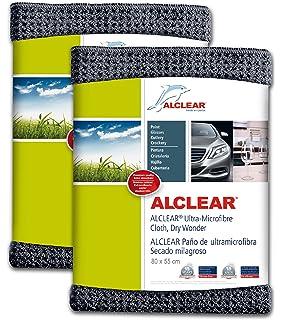 ALCLEAR 820901M_2 Secado Milagroso Paño de Microfibra, Gris Antracita, 80 x 55 cm