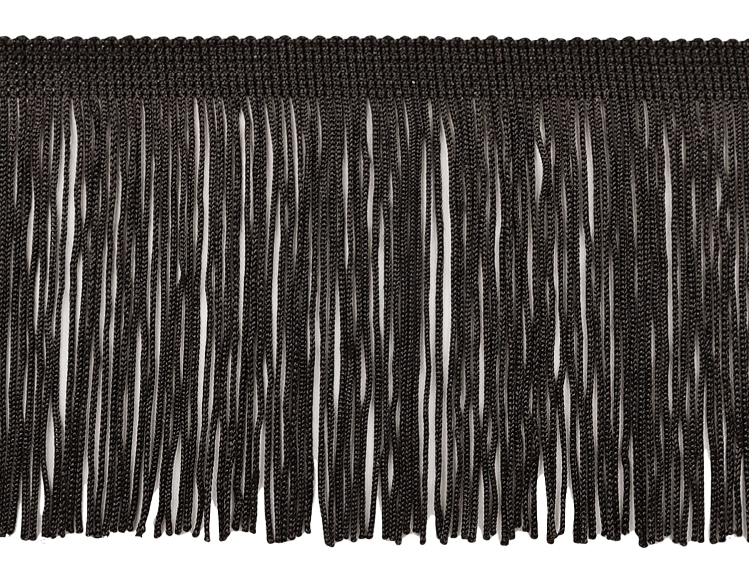 DecoPro 11 Yard Value Pack of 4 Inch Long Chainette Fringe Trim, Style# CF04 Color Black - K9 (32.5 Feet/10M)