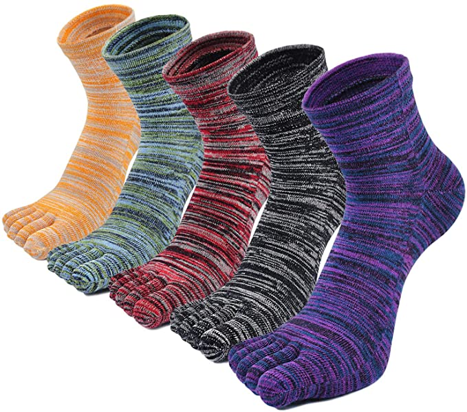 Calcetines con cinco 5 dedos hombre, calcetines antideslizantes, cinco calcetines de los dedos, calcetines de deporte, separados cómodo calcetines: Amazon.es: Ropa y accesorios