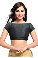 Studio Shringaar Polyester Solid Beautiful Black Wedding Blouse