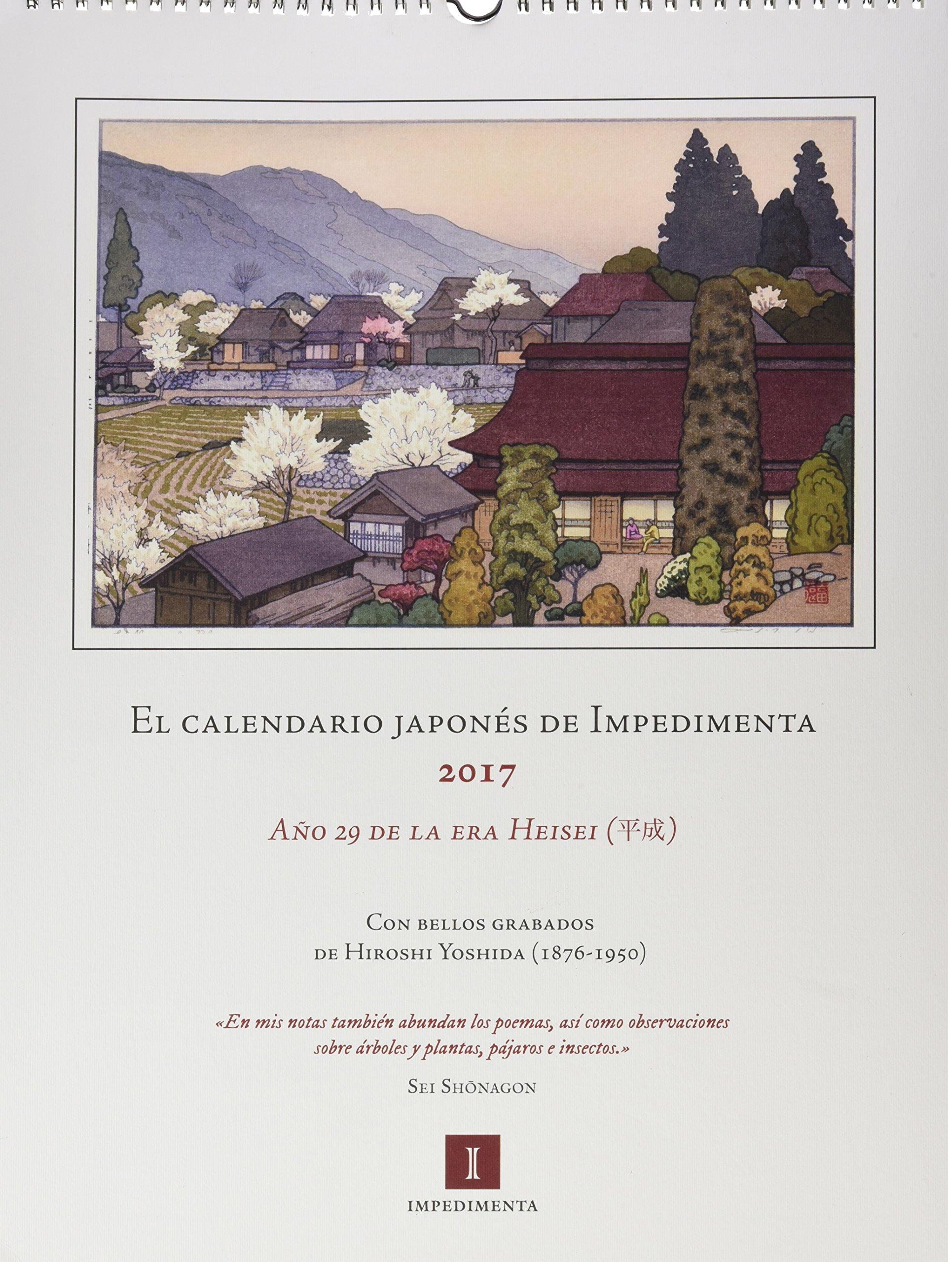 Calendario Japones.El Calendario Japones 2017 De Impedimenta Amazon Es Varios Autores