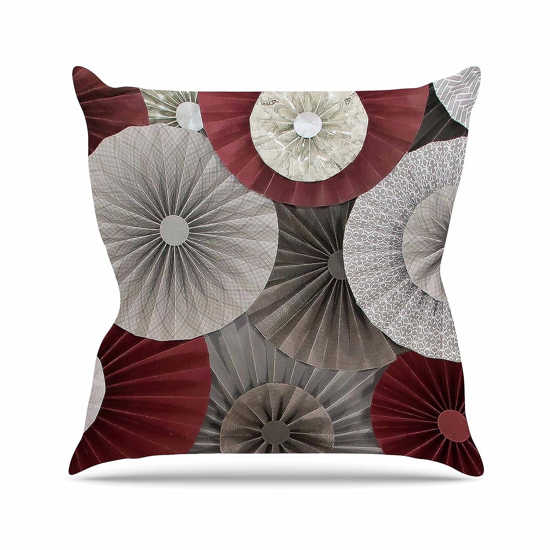 20 by 20 20 by 20 HJ1095APW04 Kess InHouse Heidi Jennings Merlot Maroon Abstract Throw Pillow